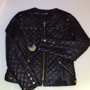 Forever 21 vegan leather jacket